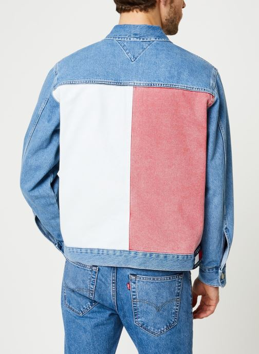 Kleding Tommy Jeans Oversize Trucker Jacket Tmyflg Blauw model