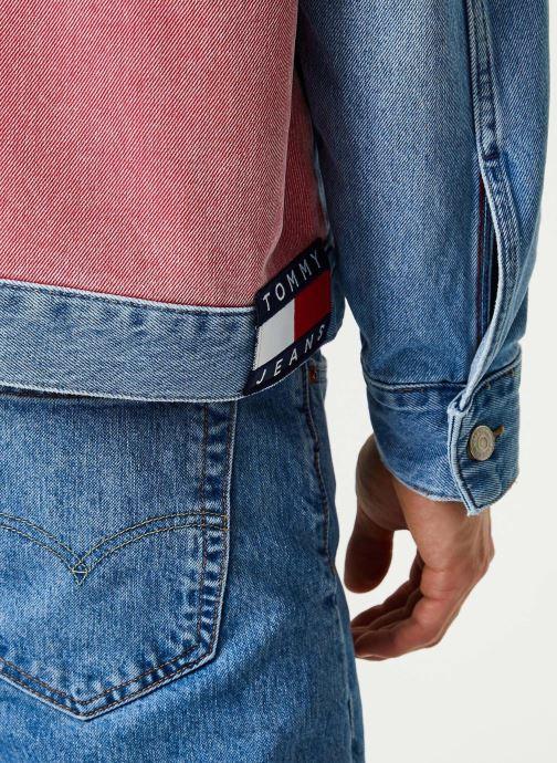 Vêtements Tommy Jeans Oversize Trucker Jacket Tmyflg Bleu vue face