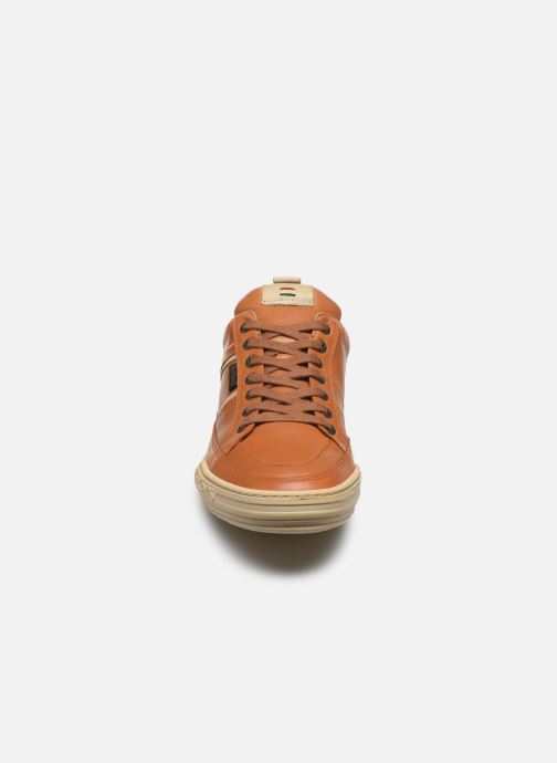 Baskets Kickers JAZZ Marron vue portées chaussures