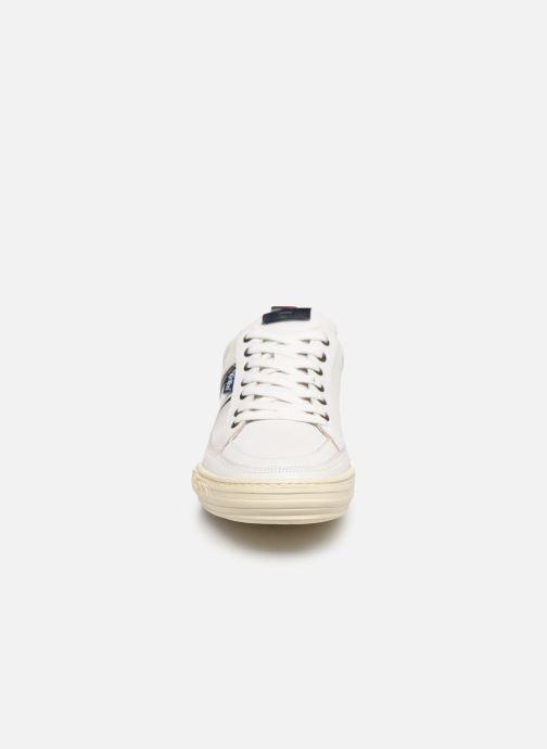 Baskets Kickers JAZZ Blanc vue portées chaussures