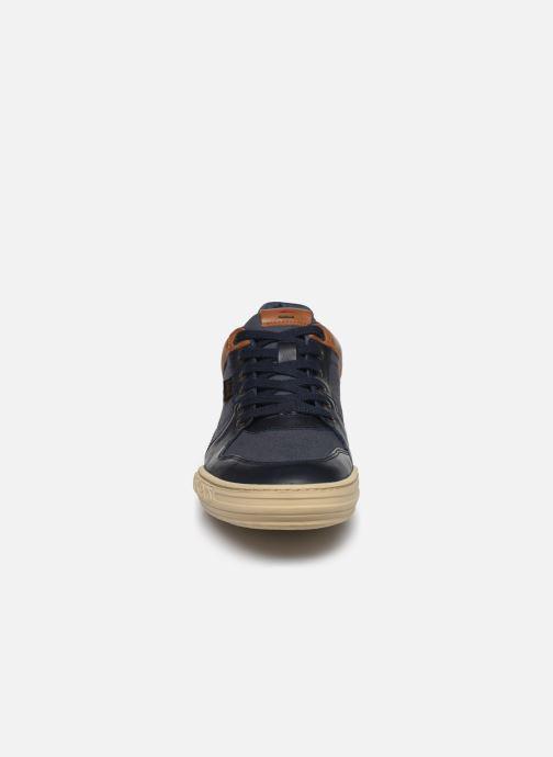 Baskets Kickers JUNGLE Bleu vue portées chaussures