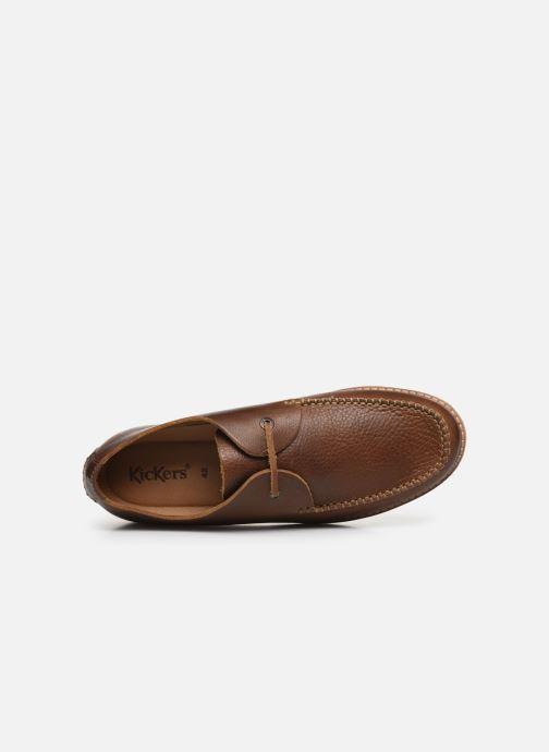 Zapatos con cordones Kickers MOKLAY Marrón vista lateral izquierda