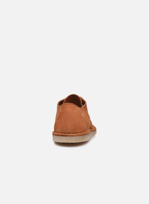 Zapatos con cordones Kickers TWISTEE Marrón vista lateral derecha