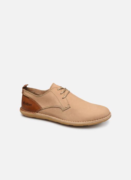 Chaussures à lacets Kickers SWIDIRA Beige vue détail/paire