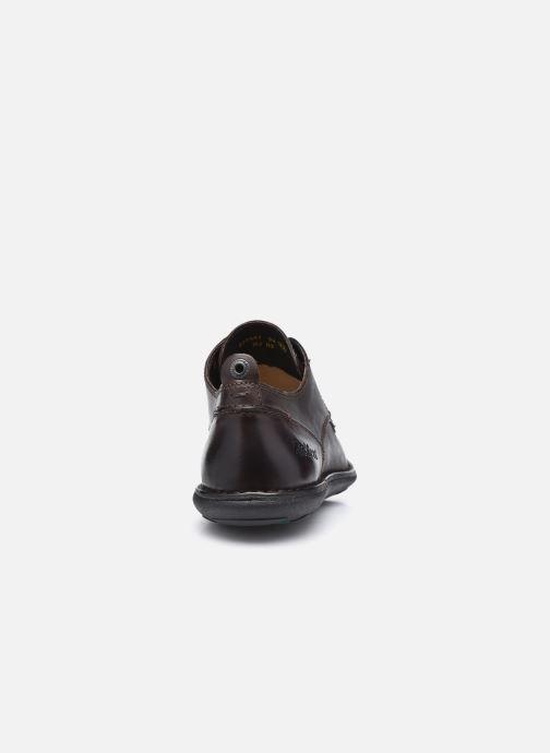 Chaussures à lacets Kickers SWIDIRA Marron vue droite
