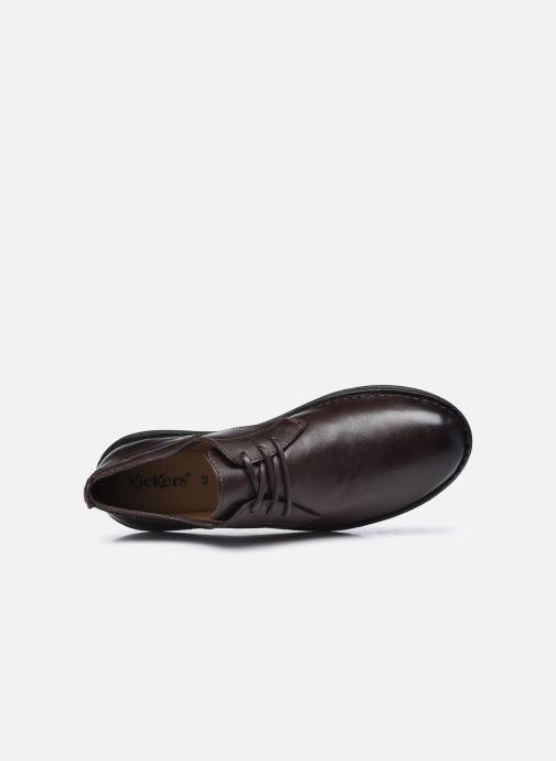 Chaussures à lacets Kickers SWIDIRA Marron vue gauche