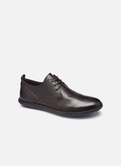 Chaussures à lacets Kickers SWIDIRA Marron vue détail/paire