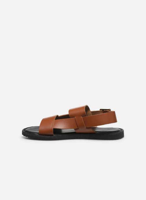 Sandales et nu-pieds Kickers DITHON Marron vue face
