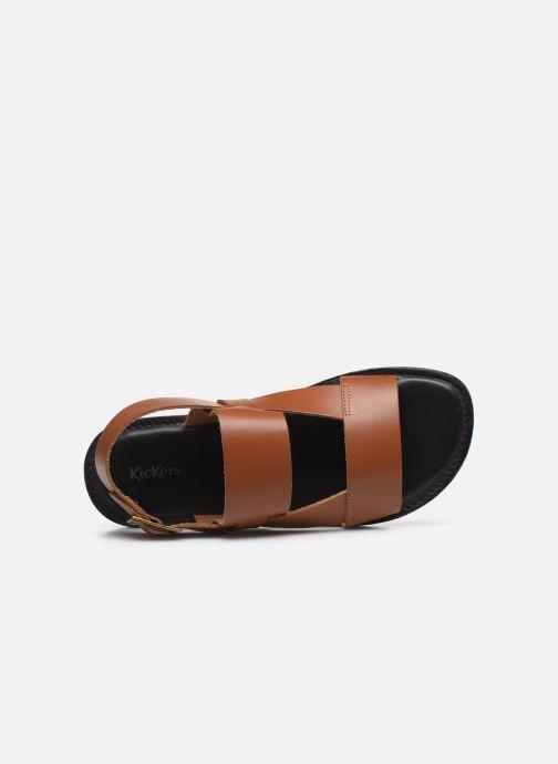 Sandales et nu-pieds Kickers DITHON Marron vue gauche