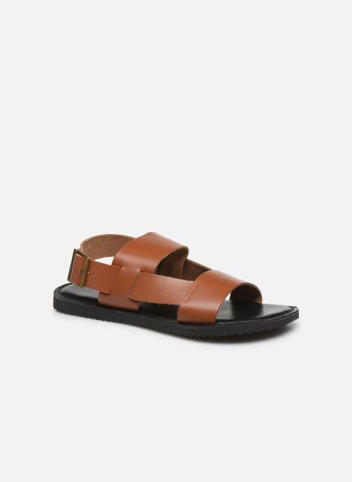 Sandales et nu-pieds Kickers DITHON Marron vue détail/paire