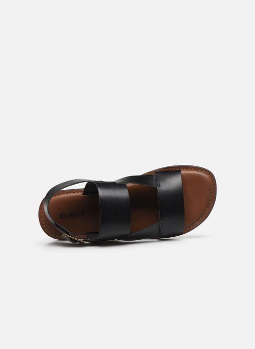 Sandales et nu-pieds Kickers DITHON Noir vue gauche