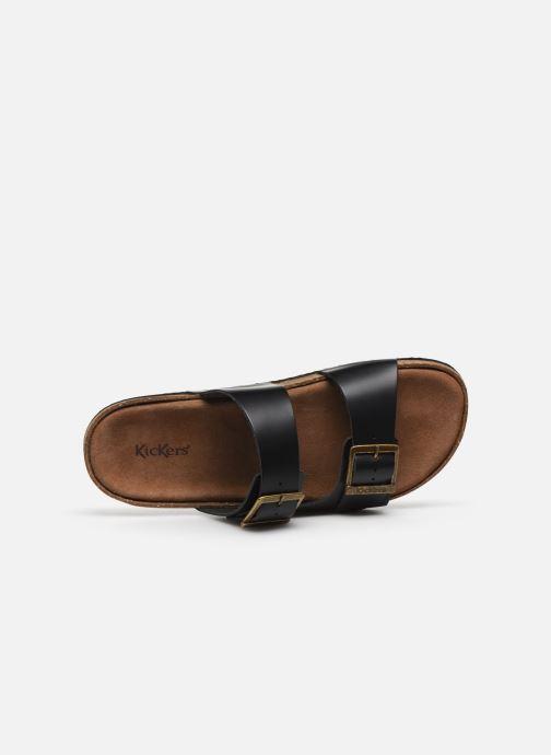Sandales et nu-pieds Kickers ORANO Noir vue gauche