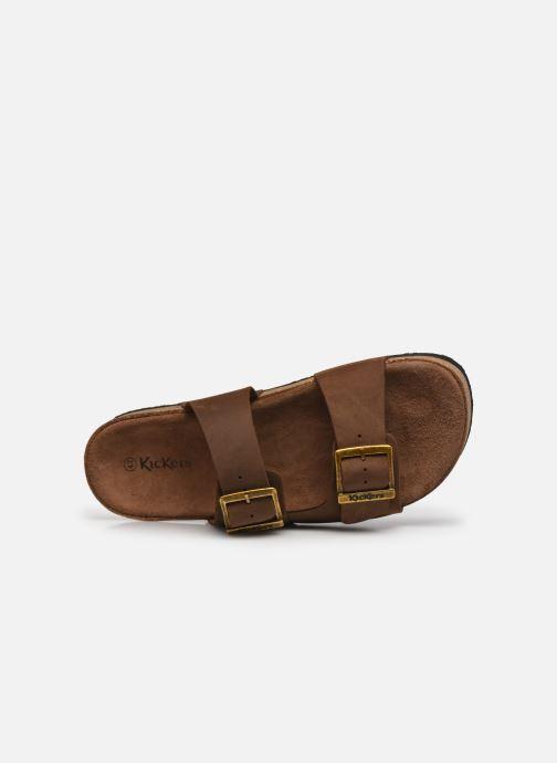Sandalen Kickers ORANO braun ansicht von links