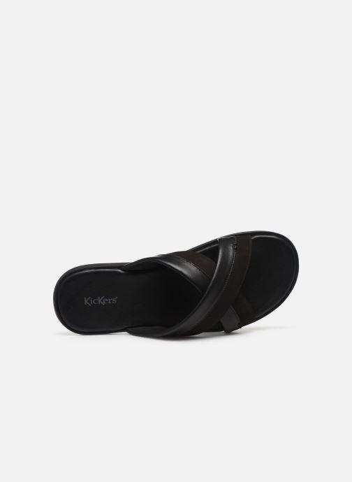 Sandales et nu-pieds Kickers MOOBY Noir vue gauche