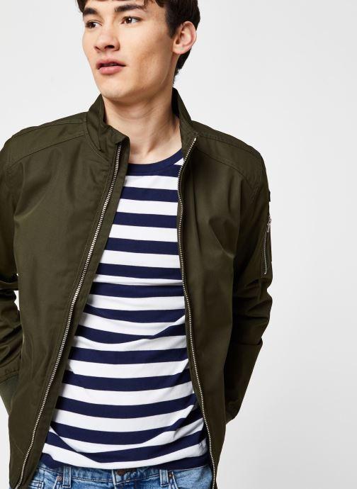 Vêtements Schott Kenny Veste Courte Badge Vert vue détail/paire