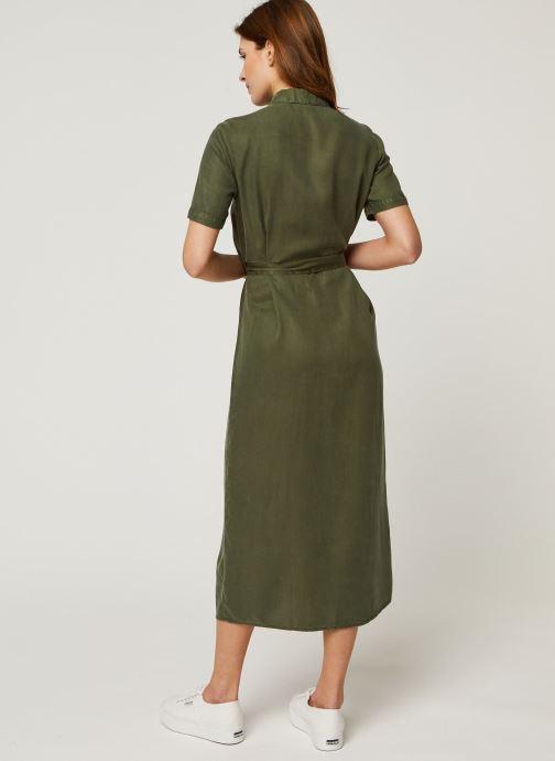 Vêtements Noisy May Long Dresses CERSEI Vert vue portées chaussures
