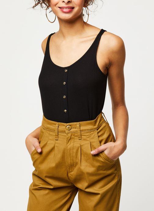 Vêtements Noisy May Tops HENLEY Noir vue détail/paire