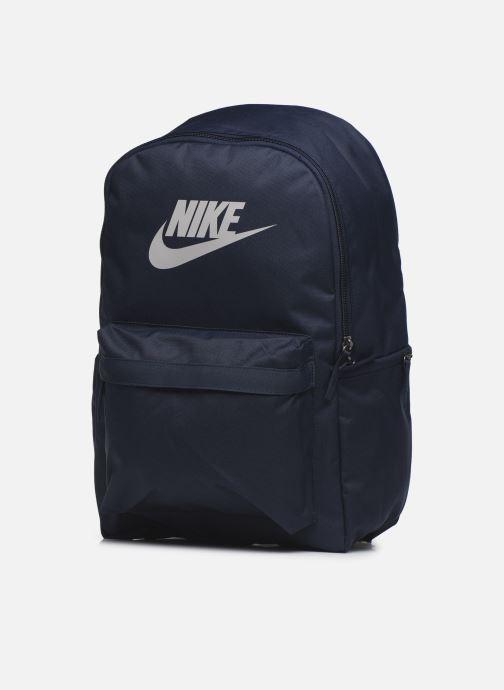 Sacs à dos Nike Nk Heritage Bkpk - 2.0 Bleu vue portées chaussures