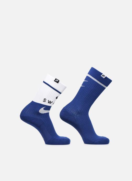 Chaussettes et collants Nike U Snkr Sox Crew 2Pr - Swoosh Bleu vue détail/paire