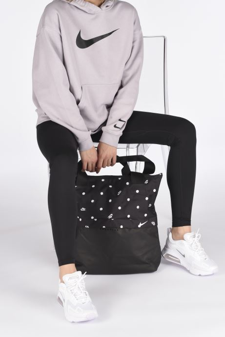 Sports bags Nike W Nk Radiate Tote - Aop Sp20 Black view from underneath / model view