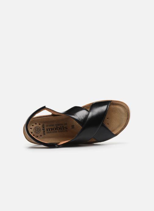 Sandales et nu-pieds Mephisto Tally C Noir vue gauche
