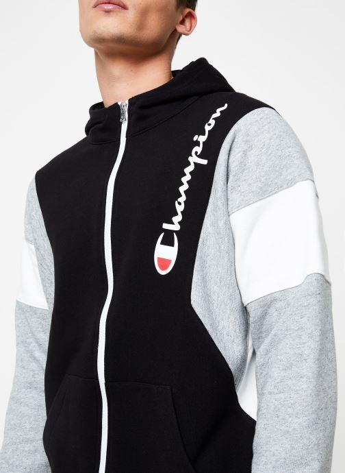 Kleding Champion Full Zip sweatshirt Tricolore Zwart voorkant