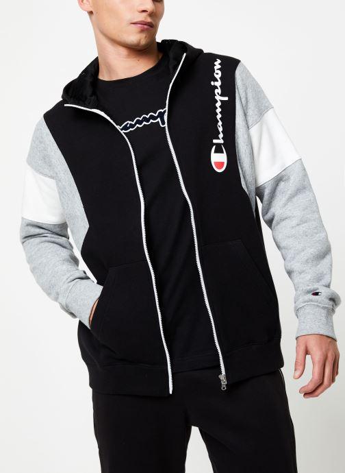 Kleding Champion Full Zip sweatshirt Tricolore Zwart detail