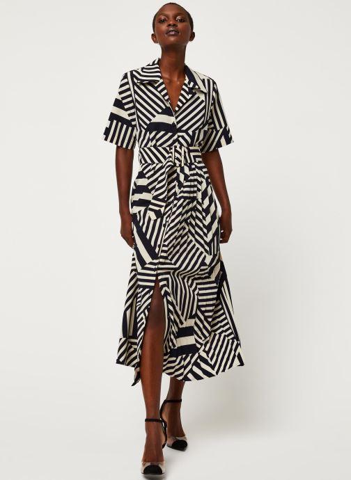 Vêtements Selected Femme SLFALEENA-ORIANA 2/4 AOP ANKLE DRESS B Bleu vue bas / vue portée sac