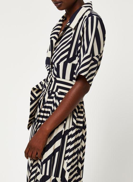 Vêtements Selected Femme SLFALEENA-ORIANA 2/4 AOP ANKLE DRESS B Bleu vue face