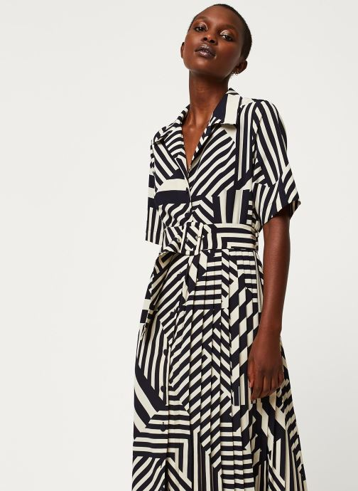 Vêtements Selected Femme SLFALEENA-ORIANA 2/4 AOP ANKLE DRESS B Bleu vue droite