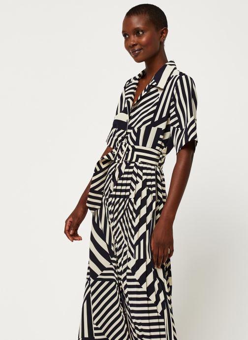 Vêtements Selected Femme SLFALEENA-ORIANA 2/4 AOP ANKLE DRESS B Bleu vue détail/paire