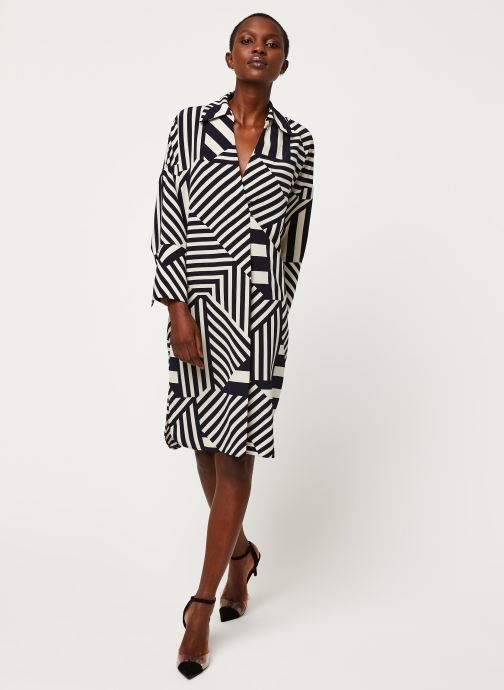 Vêtements Selected Femme SLFALEENA-TONIA 7/8 AOP SHORT DRESS B Bleu vue bas / vue portée sac