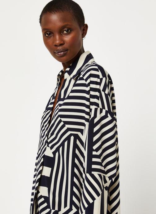 Vêtements Selected Femme SLFALEENA-TONIA 7/8 AOP SHORT DRESS B Bleu vue face