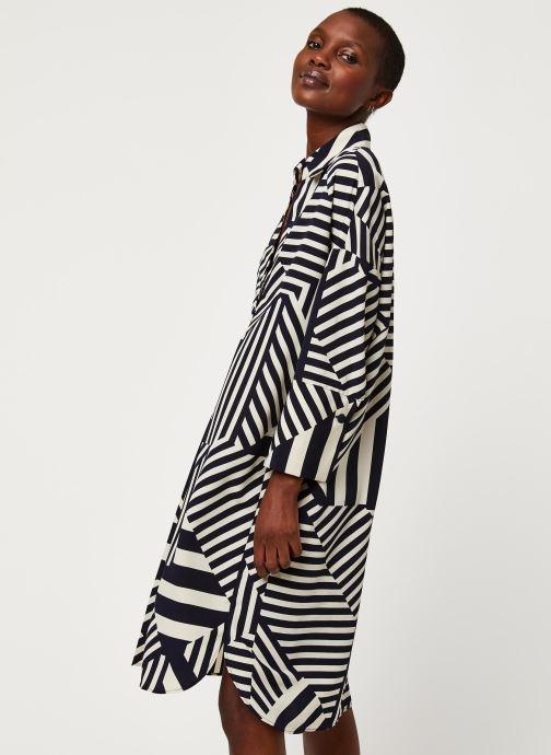 Vêtements Selected Femme SLFALEENA-TONIA 7/8 AOP SHORT DRESS B Bleu vue droite