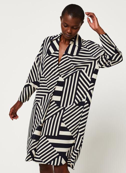 Vêtements Selected Femme SLFALEENA-TONIA 7/8 AOP SHORT DRESS B Bleu vue détail/paire