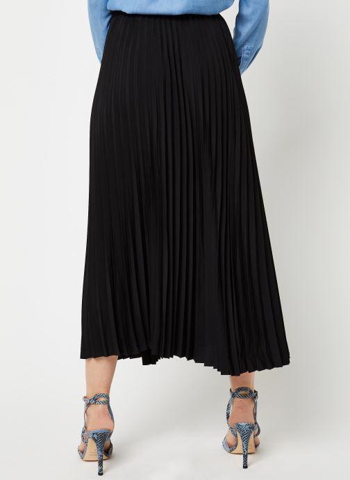 Vêtements Selected Femme SLFALEXIS MW MIDI SKIRT NOOS Noir vue portées chaussures