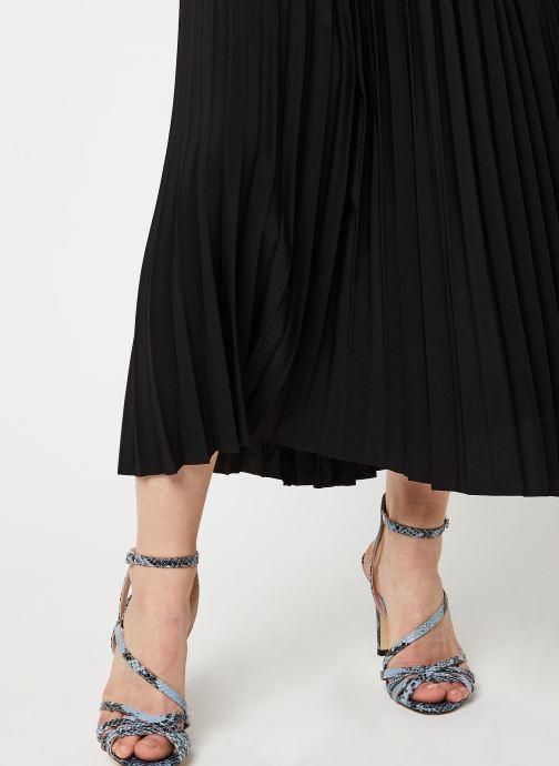 Vêtements Selected Femme SLFALEXIS MW MIDI SKIRT NOOS Noir vue face