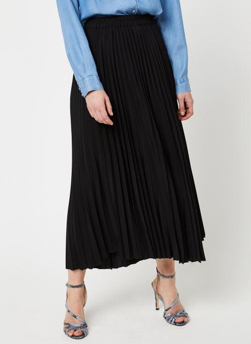 Vêtements Selected Femme SLFALEXIS MW MIDI SKIRT NOOS Noir vue détail/paire