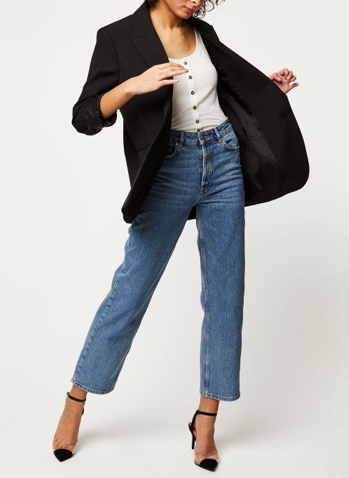 Vêtements Selected Femme SLFKATE HW STRAIGHT RAIL BLUE JEANS NOOS Bleu vue bas / vue portée sac