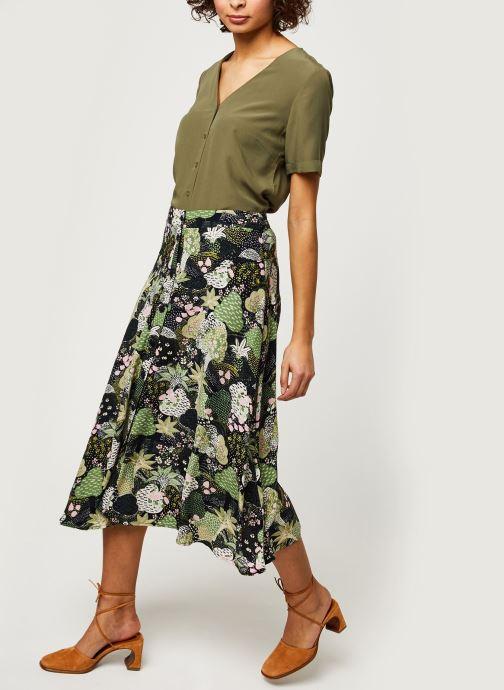Vêtements Selected Femme SLFMARINA MW MIDI AOP SKIRT B Vert vue bas / vue portée sac