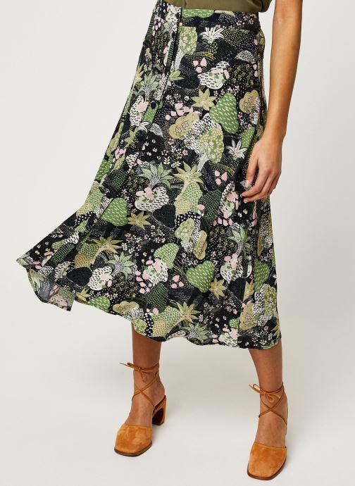Vêtements Selected Femme SLFMARINA MW MIDI AOP SKIRT B Vert vue détail/paire