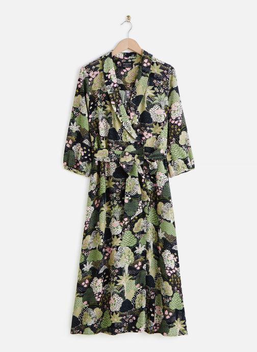 Kleding Selected Femme SLFMARINA-FLORENTA 3/4 AOP MIDI DRESS B Groen detail