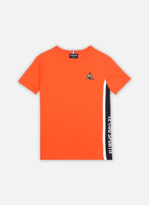 Kleding Le Coq Sportif TECH Tee SS N°1 Enfant Oranje detail