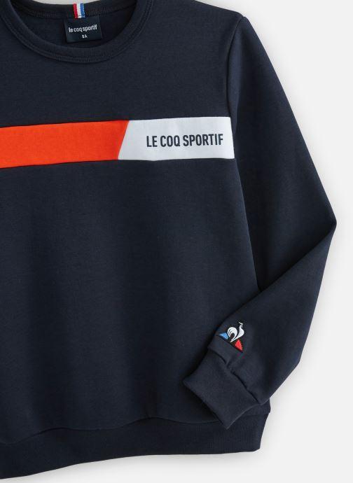 Vêtements Le Coq Sportif TECH Crew Sweat N°2 Enfant Bleu vue portées chaussures