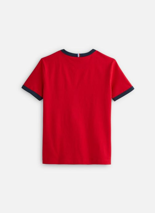 Vêtements Le Coq Sportif BAT Tee SS N°4 Enfant Rouge vue bas / vue portée sac