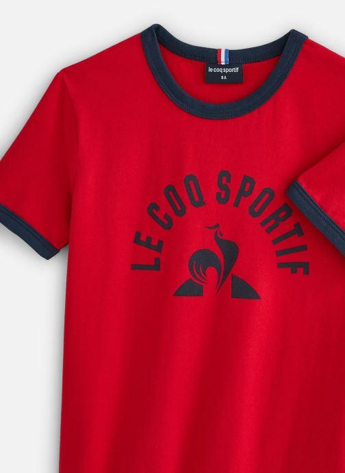 Vêtements Le Coq Sportif BAT Tee SS N°4 Enfant Rouge vue portées chaussures