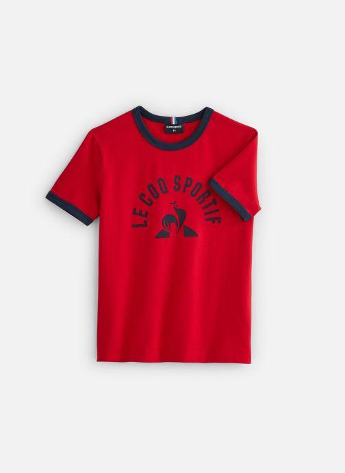 Vêtements Le Coq Sportif BAT Tee SS N°4 Enfant Rouge vue détail/paire