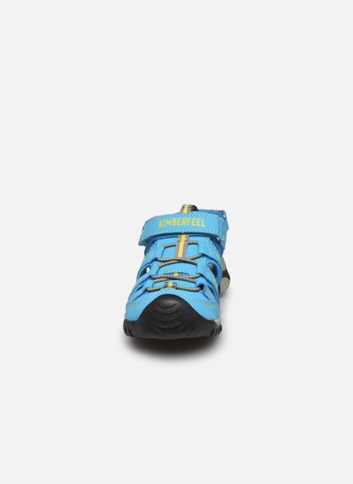 Sandales et nu-pieds Kimberfeel Cabana Bleu vue portées chaussures