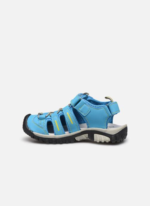 Sandales et nu-pieds Kimberfeel Cabana Bleu vue face