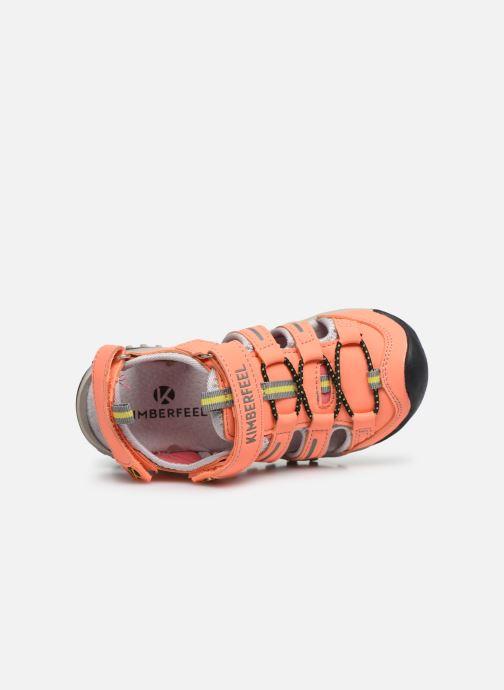 Sandales et nu-pieds Kimberfeel Cabana Orange vue gauche